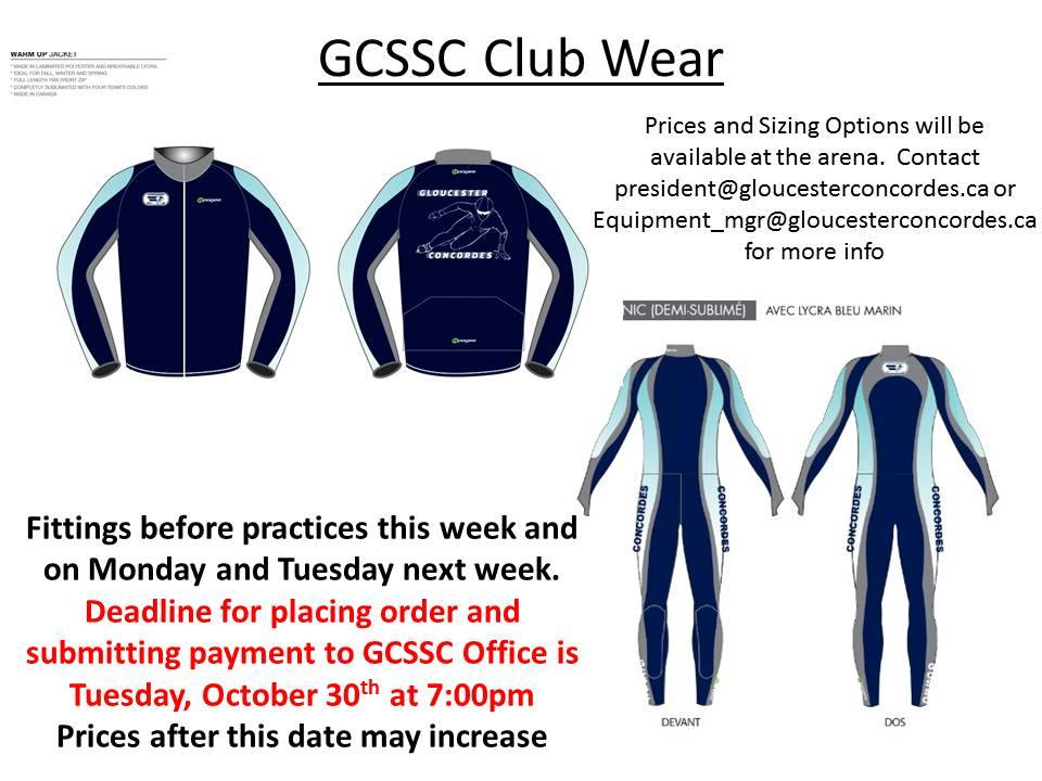 Order your Club Wear Now! Due: Oct 30/18